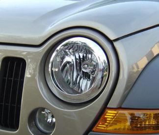 ABS Chrome Head Light Bezel 2002 - 2007 Jeep Liberty