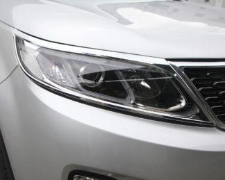 ABS Chrome Head Light Bezel 2011 - 2012 Kia Sorento