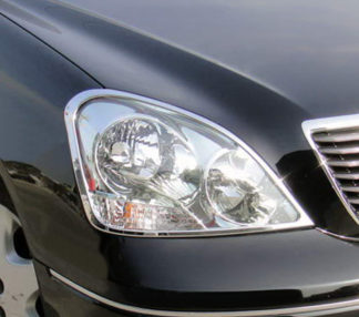 ABS Chrome Head Light Bezel 2001 - 2003 Lexus LS-Series