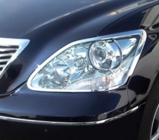 ABS Chrome Head Light Bezel 2004 - 2006 Lexus LS-Series