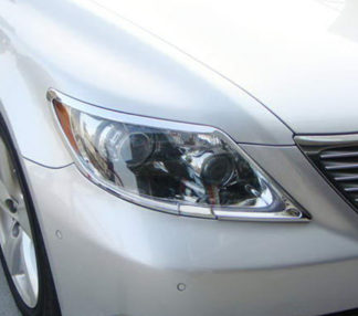 ABS Chrome Head Light Bezel (fits: Hybrid too) 2007 - 2009 Lexus LS-Series