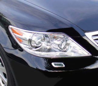 ABS Chrome Head Light Bezel (fits: Hybrid too) 2010 - 2012 Lexus LS-Series