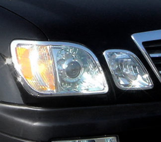 ABS Chrome Head Light Bezel 1999 - 2007 Lexus LX-Series