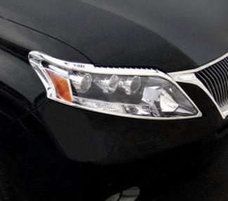 ABS Chrome Head Light Bezel 2010 - 2012 Lexus RX-Series