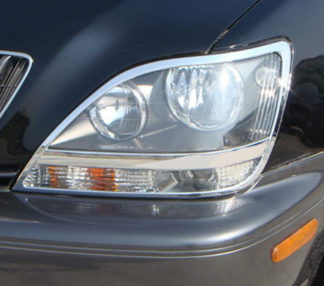 ABS Chrome Head Light Bezel 1999 - 2003 Lexus RX-Series
