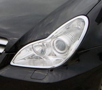 ABS Chrome Head Light Bezel 2006 - 2011 Mercedes-Benz CLS-Class-W219