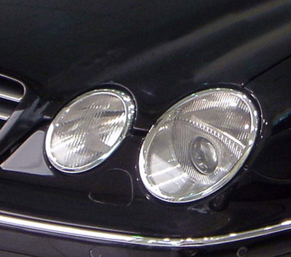 ABS Chrome Head Light Bezel 4-Pc 2000 - 2006 Mercedes-Benz CL-Class-W215