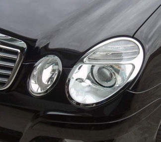 ABS Chrome Head Light Bezel 4-Pc 2007 - 2009 Mercedes-Benz E-Class-W211