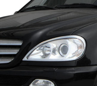 ABS Chrome Head Light Bezel 1998 - 2005 Mercedes-Benz ML-Class-W163