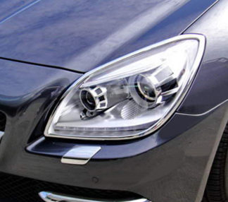 ABS Chrome Head Light Bezel 2012 - 2013 Mercedes-Benz SLK-Class-R172