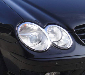 ABS Chrome Head Light Bezel 2-Oval 2003 - 2008 Mercedes-Benz SL-Class-R230