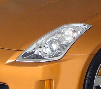 ABS Chrome Head Light Bezel 2003 - 2008 Nissan 350Z