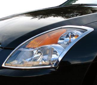 ABS Chrome Head Light Bezel 2007 - 2009 Nissan Altima-Sedan