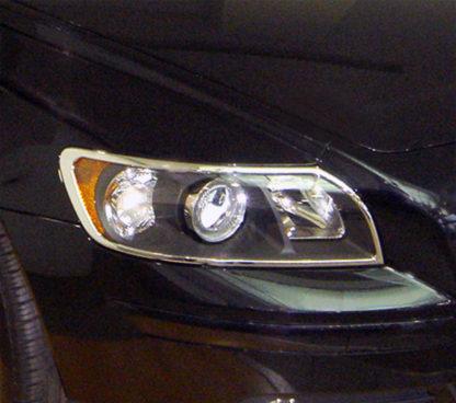 ABS Chrome Head Light Bezel 2005 - 2011 Volvo S40-T5/V50
