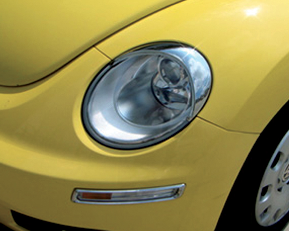 ABS Chrome Head Light Bezel 2006 - 2010 Volkswagen New-Beetle