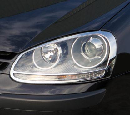 ABS Chrome Head Light Bezel 2006 - 2009 Volkswagen Golf5/Rabbit
