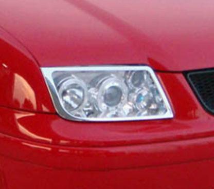 ABS Chrome Head Light Bezel 1999 - 2004 Volkswagen Jetta