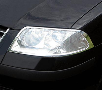 ABS Chrome Head Light Bezel 2001 - 2005 Volkswagen Passat