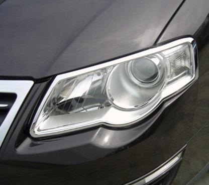 ABS Chrome Head Light Bezel 2006 - 2010 Volkswagen Passat