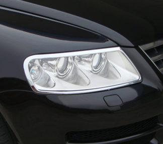 ABS Chrome Head Light Bezel 2004 - 2007 Volkswagen Touareg