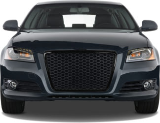 72R-AUA309RS-BK ABS Replacement Main Grille RS-Type Glossy  Black Frame Matte Black Honeycomb Mesh w/Logo Base and Bracket