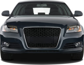 72R-AUA309RS-CB ABS Replacement Main Grille RS-Type Chrome Frame Matte Black Honeycomb Mesh