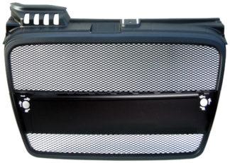 72R-AUA406AM-BK ABS Replacement Main Grille Matte Black Frame Black Aluminum Mesh