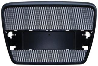 72R-AUA605AM-BK ABS Replacement Main Grille Matte Black Frame Black Aluminum Mesh