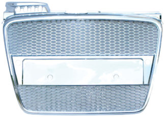 72R-AUS406RS-CH ABS Replacement Main Grille RS-Type Chrome Frame/Chrome Honeycomb Mesh
