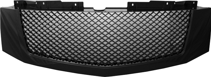 72R-CAESC07-GME-BK ABS Glossy Black Bentley Mesh Style Replacement Grille (Not Fit Platinum Edition)