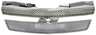 72R-CHAVA07-GXM ABS Chrome X-Mesh Style with Logo Recess Replacement Grille