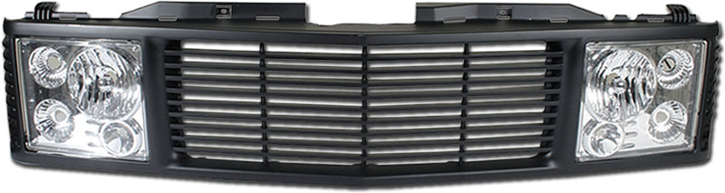 72R-CHC1094-ORR-BC / 94-99-Tahoe/Suburban/Yukon Range Rover Style Conversion Kit - Black Grille w/ Chrome Head Lamp