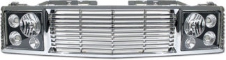 72R-CHC1094-ORR-CB / 94-99-Tahoe/Suburban/Yukon Range Rover Style Conversion Kit – Chrome Grille w/ Black Head Lamp