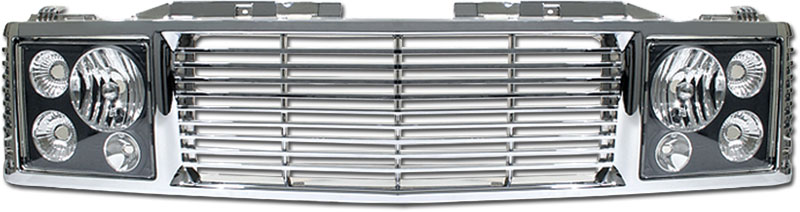 72R-CHC1094-ORR-CB / 94-99-Tahoe/Suburban/Yukon Range Rover Style Conversion Kit - Chrome Grille w/ Black Head Lamp