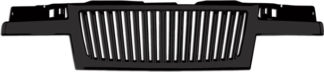 72R-CHCOL04-GVB-BK ABS Gloss Black Vertical Thin Bar Style Replacement Grille