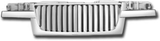72R-CHCOL04-PVB ABS Chrome Vertical Thick Bar Style Replacement Grille