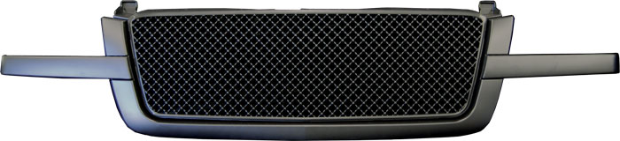 72R-CHSIL03-OME-BK Black ABS Mesh Style Replacement Grille