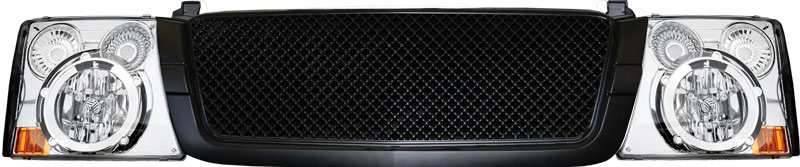 72R-CHSIL03-ORR-BC Range Rover Stlye Conversion Kit - Black Main Grille/Chrome Head Lamp
