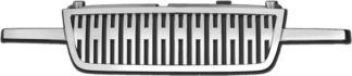 72R-CHSIL05HD-PVB ABS Chrome Vertical H-Bar Style Replacement Grille