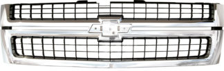 72R-CHSIL07HD-POE-CB OE Style Replacement Grille Matte-Back with Chrome Frame w/Emblem Recess (Emblem not included)