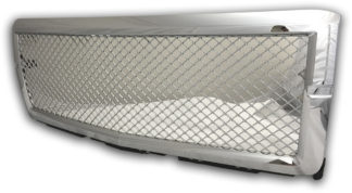 72R-CHSIL14-GME ABS Chrome Mesh Style Replacement Grille