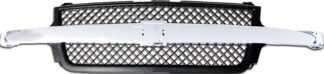 72R-CHSIL99HD-POE-CB OE Style Replacement Grille Black Mesh style with Chrome Emblem Recess Cross Bar (Emblem not included) 15088290