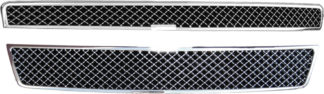 72R-CHTAH07-GXM ABS Chrome X-Mesh Style with Logo Recess Replacement Grille