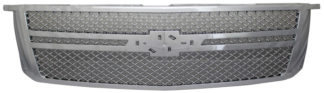 72R-CHTAH15-GM2 ABS Chrome Performance Replacement Bently Mesh Style Grille with Parallel Molding and Emblem Base