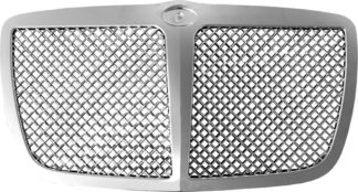 72R-CR30005-PME ABS Chrome Mesh Style With Midle Bar Replacement Grille