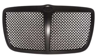 72R-CR30005-PME-BK ABS Black Mesh Style With Midle Bar Replacement Grille