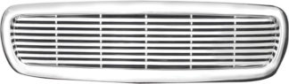 72R-DODAK97-PBL ABS Chrome Horizontal 8 Bar Replacement Grille