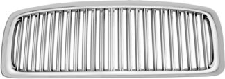 72R-DORAM02-GVB ABS Chrome Vertical Thin Bar Style Replacement Grille (Excludes 2002 Ram 2500/3500)