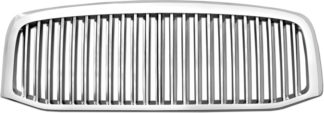72R-DORAM06-GVB ABS Chrome Vertical Thin Bar Style Replacement Grille