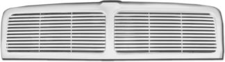 72R-DORAM94-PBL ABS Chrome Horizontal Billet with Middle Vertical Bar Style Replacement Grille